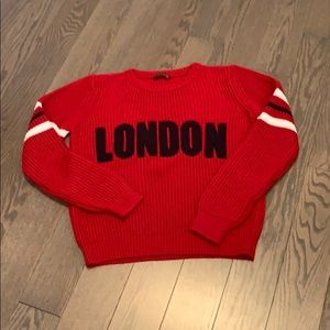 Sweaters - London Koton red knit sweater